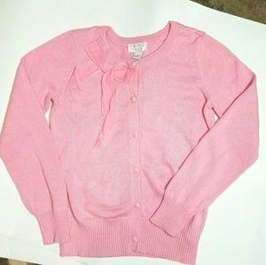 Girls Pink Cardigan Size M 7/8